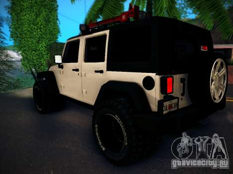 Jeep Wrangler 4x4 для GTA San Andreas вид сзади слева