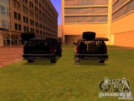 Mountainstalker S для GTA San Andreas салон