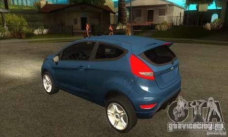 Ford Fiesta Zetec S 2009 для GTA San Andreas вид сзади слева