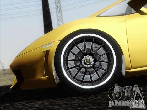 Lamborghini Gallardo LP640 Vallentino Balboni для GTA San Andreas вид изнутри