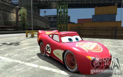 Lighting McQueen для GTA 4 вид сзади
