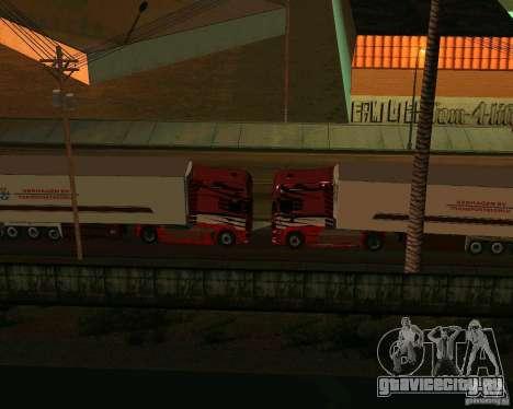 Scania TopLine для GTA San Andreas вид изнутри