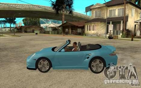 Porsche 911 Cabriolet 2010 для GTA San Andreas вид слева