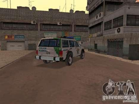 Jeep Cherokee Police 1988 для GTA San Andreas вид справа
