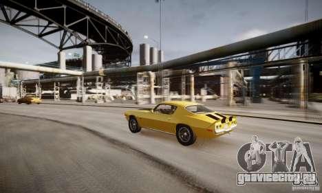 Chevrolet Camaro Z28 для GTA 4 вид снизу
