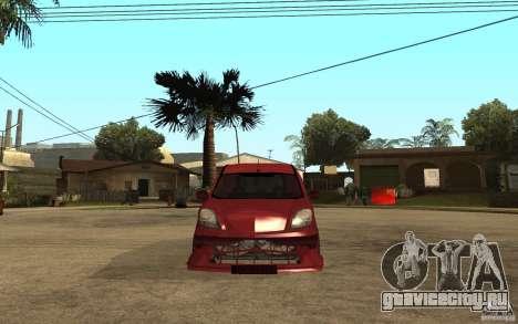 Renault Kangoo Tuning для GTA San Andreas вид справа