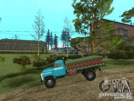 ГАЗ-53 баллоновоз для GTA San Andreas вид сзади слева