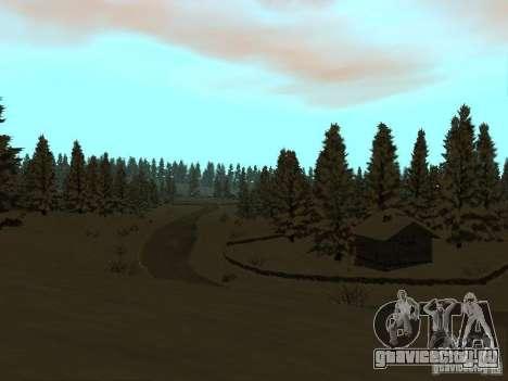 Зимняя трасса для GTA San Andreas пятый скриншот
