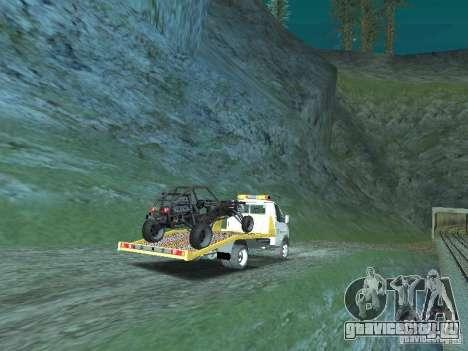 ГАЗ 3302 2003-2011г. Эвакуатор для GTA San Andreas вид сзади слева