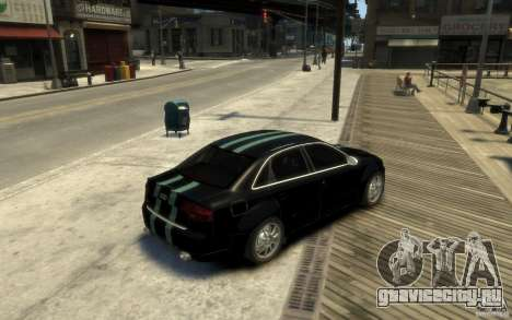 Audi RS4 для GTA 4 вид справа