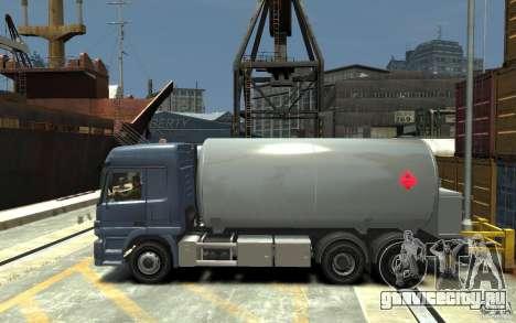 Mercedes Benz Actros Gas Tanker для GTA 4 вид слева