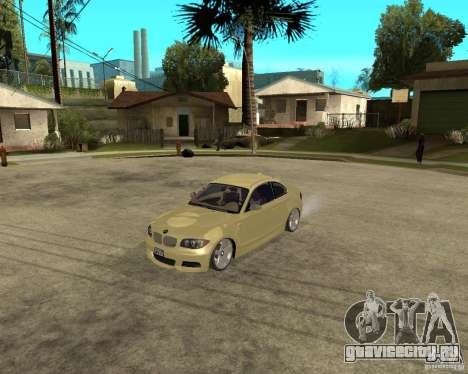 BMW 135i Coupe Stock для GTA San Andreas вид слева