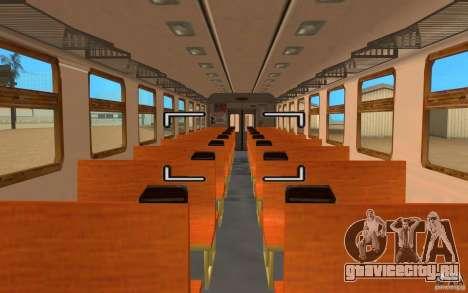 Поезд ER2-K-1321 для GTA San Andreas вид сзади слева