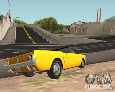 Ford Mustang 289 1964 для GTA San Andreas вид сзади
