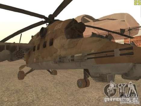 Ми-24П Пустынный камуфляж для GTA San Andreas вид слева