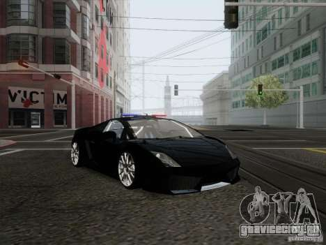 Lamborghini Gallardo LP-560 Police для GTA San Andreas вид сзади слева