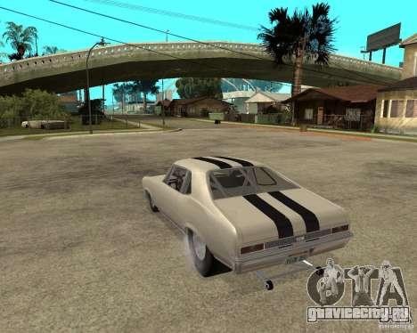1969 Chevrolet Nova ProStreet Dragger для GTA San Andreas вид слева