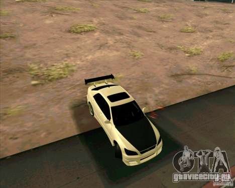 LEXUS IS300 Light tuned для GTA San Andreas вид сзади слева