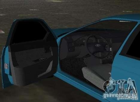 Lada Priora Хэтчбек для GTA Vice City вид сзади