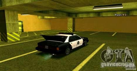 Sentinel Police LV для GTA San Andreas вид сзади