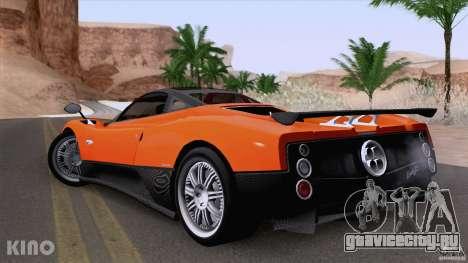 Pagani Zonda F для GTA San Andreas вид изнутри