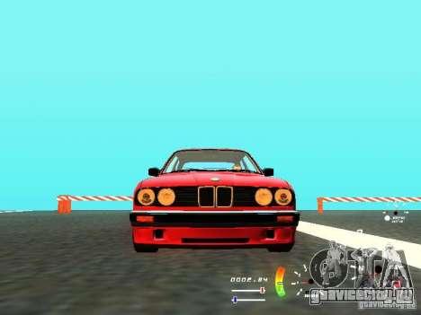 BMW E30 87-91 для GTA San Andreas вид сзади слева