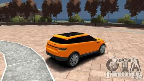 Range Rover LRX 2010 для GTA 4 вид справа