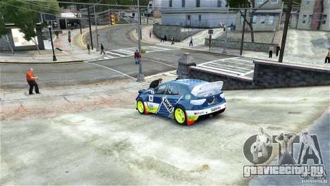 Subaru Impreza WRX STI Rallycross SHOEL Vinyl для GTA 4 вид слева