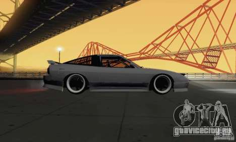 Nissan 180SX для GTA San Andreas вид сзади