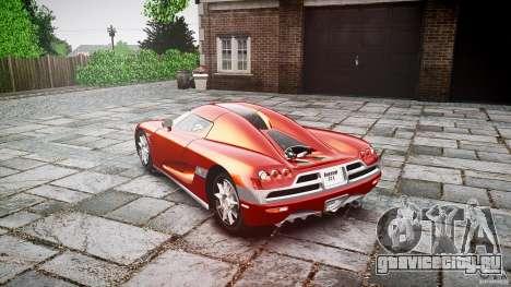 Koenigsegg CCX v1.1 для GTA 4 вид изнутри