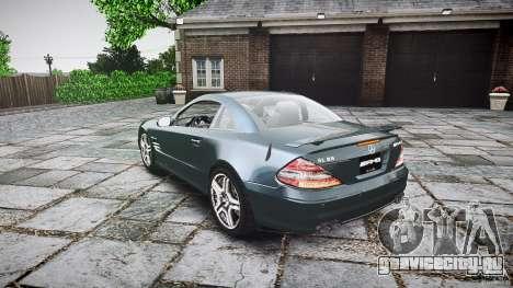 Mercedes Benz SL65 AMG V1.1 для GTA 4 вид сзади слева