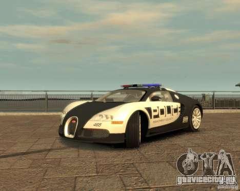 Bugatti Veyron Police [EPM] для GTA 4 вид справа