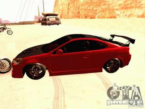 Acura RSX Drift для GTA San Andreas вид слева