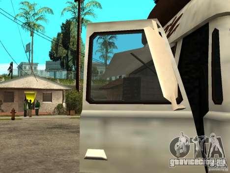 Чистые стекла в Hotdog-е для GTA San Andreas вид сзади слева