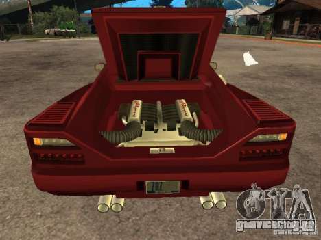 HD Cheetah для GTA San Andreas вид сзади