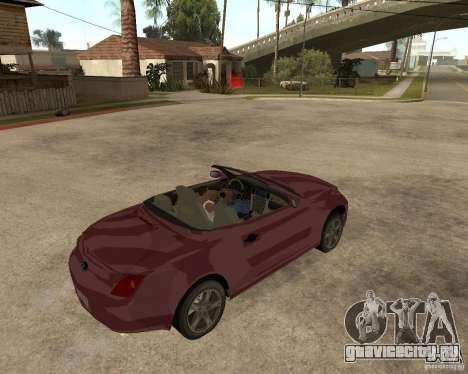 Lexus SC430 для GTA San Andreas вид справа