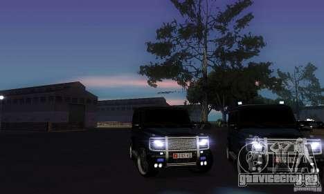 Mercedes Benz G500 ART FBI для GTA San Andreas вид сбоку