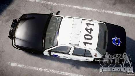 Ford Crown Victoria SFPD K9 Unit [ELS] для GTA 4 вид изнутри