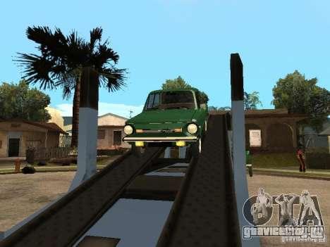 ЗАЗ 968М v2 для GTA San Andreas вид сзади