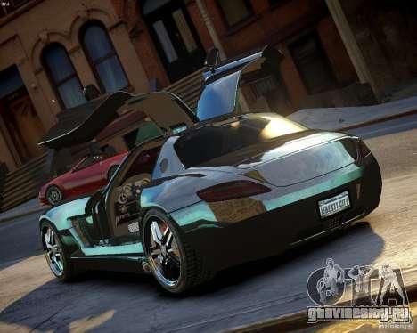 Mercedes SLS Extreme для GTA 4 вид сзади слева