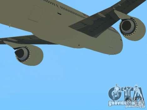 Boeing 787 Dreamliner Air Canada для GTA San Andreas вид сзади