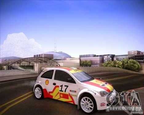 Opel Corsa Super 1600 для GTA San Andreas вид сзади слева