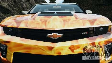 Chevrolet Camaro ZL1 2012 v1.0 Flames для GTA 4 двигатель
