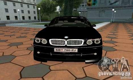 BMW 760LI для GTA San Andreas вид справа