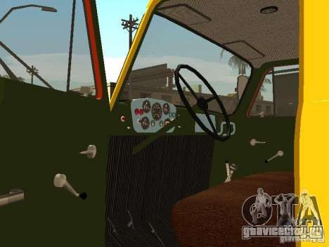 ГАЗ 53 для GTA San Andreas вид изнутри