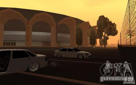 Lada Priora Light Tuning для GTA San Andreas вид сзади