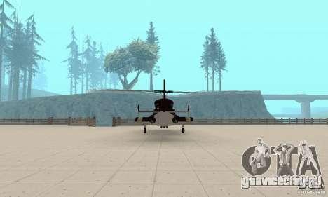 Airwolf для GTA San Andreas вид изнутри