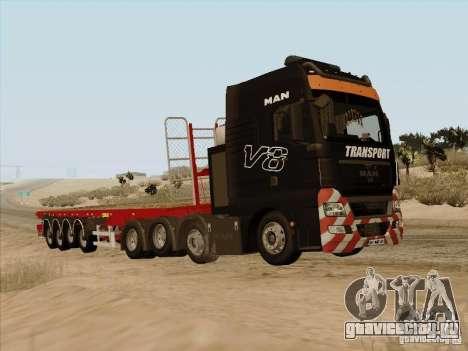 MAN TGX 8x4 для GTA San Andreas вид слева