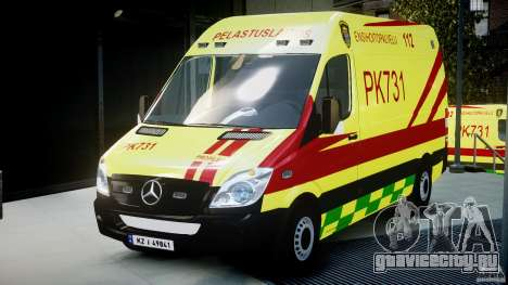 Mercedes-Benz Sprinter PK731 Ambulance [ELS] для GTA 4