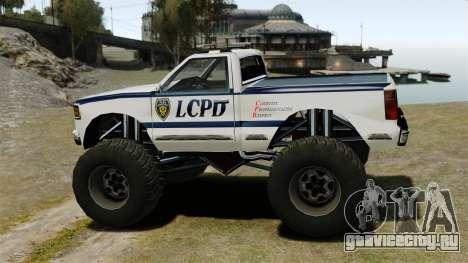 Полицейский Monster Truck ELS для GTA 4 вид слева